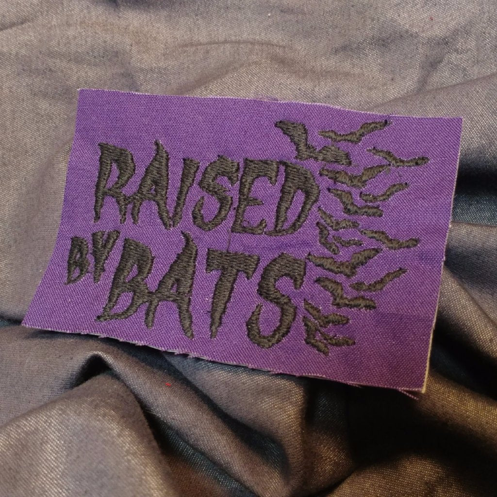 Raised By Bats Patch | patch | Nu Goth & Alternative Apparel | Build Your Empire Clothing Co.