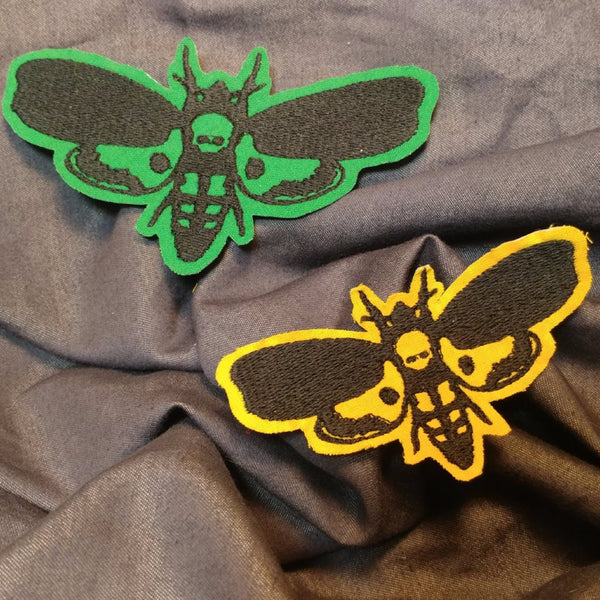 Death Head Moth Patch | patch | Nu Goth & Alternative Apparel | Build Your Empire Clothing Co.