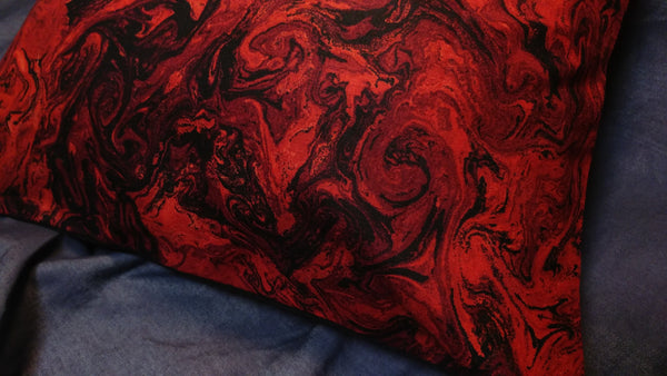 Black & Red Lava Pillow Case | Pillow | Nu Goth & Alternative Apparel | Build Your Empire Clothing Co.