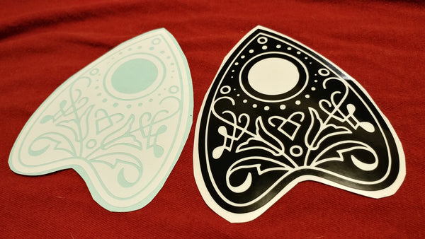 Planchette Vinyl Decal Sticker | Sticker | Nu Goth & Alternative Apparel | Build Your Empire Clothing Co.