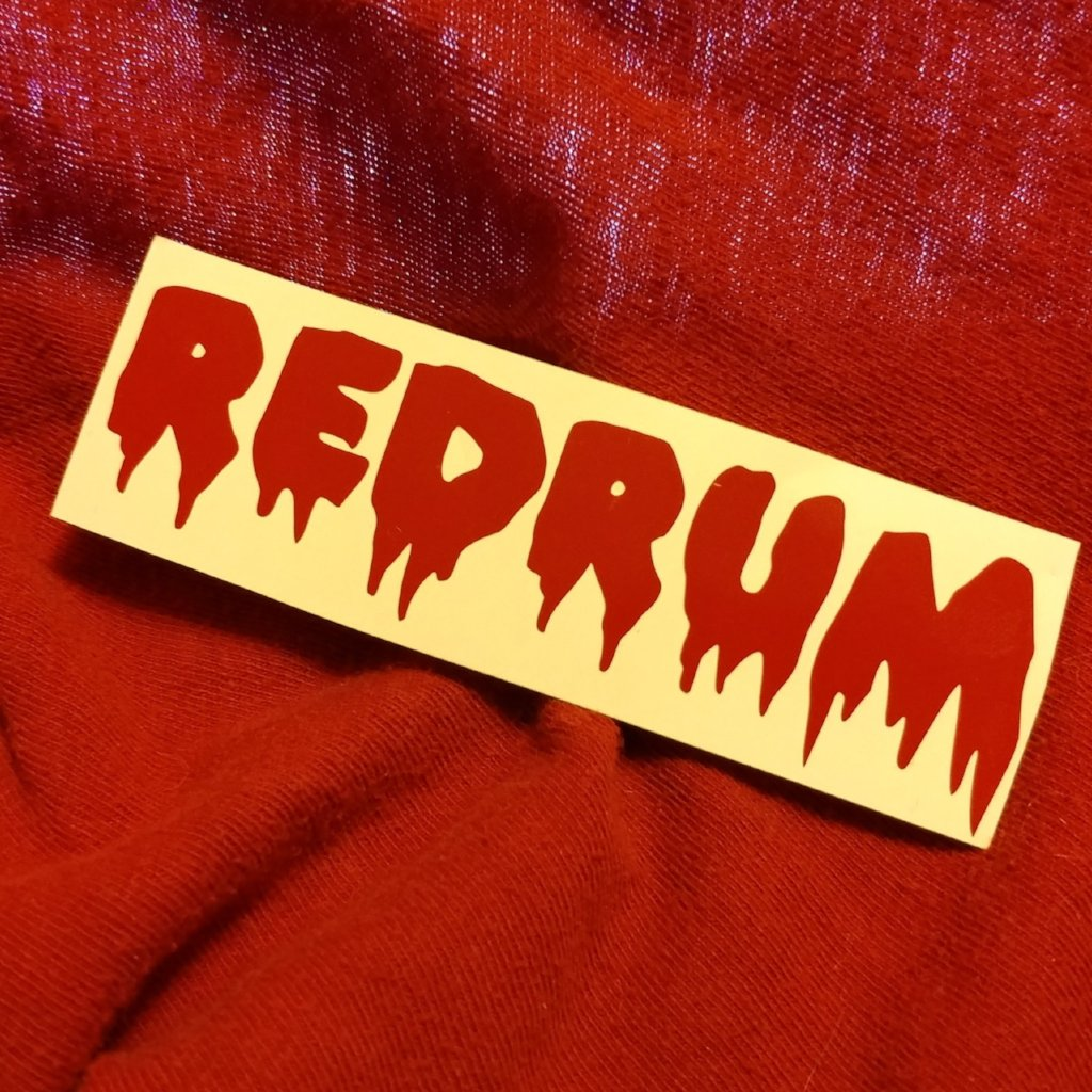 REDRUM Vinyl Decal Sticker | Sticker | Nu Goth & Alternative Apparel | Build Your Empire Clothing Co.