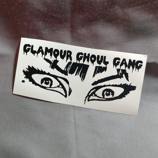 Glamour Ghoul Gang Eyes Vinyl Decal Sticker | Sticker | Nu Goth & Alternative Apparel | Build Your Empire Clothing Co.