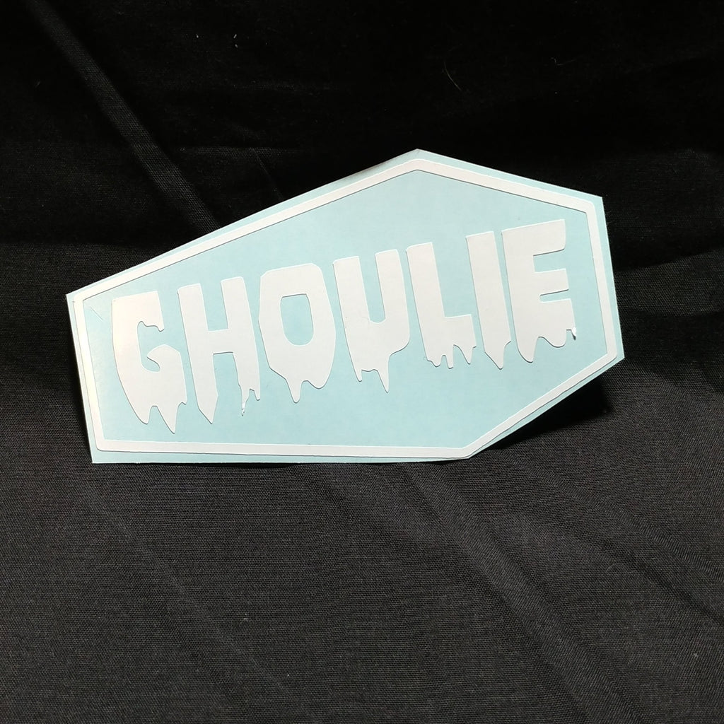 Coffin Ghoulie Border Vinyl Decal Sticker | Sticker | Nu Goth & Alternative Apparel | Build Your Empire Clothing Co.