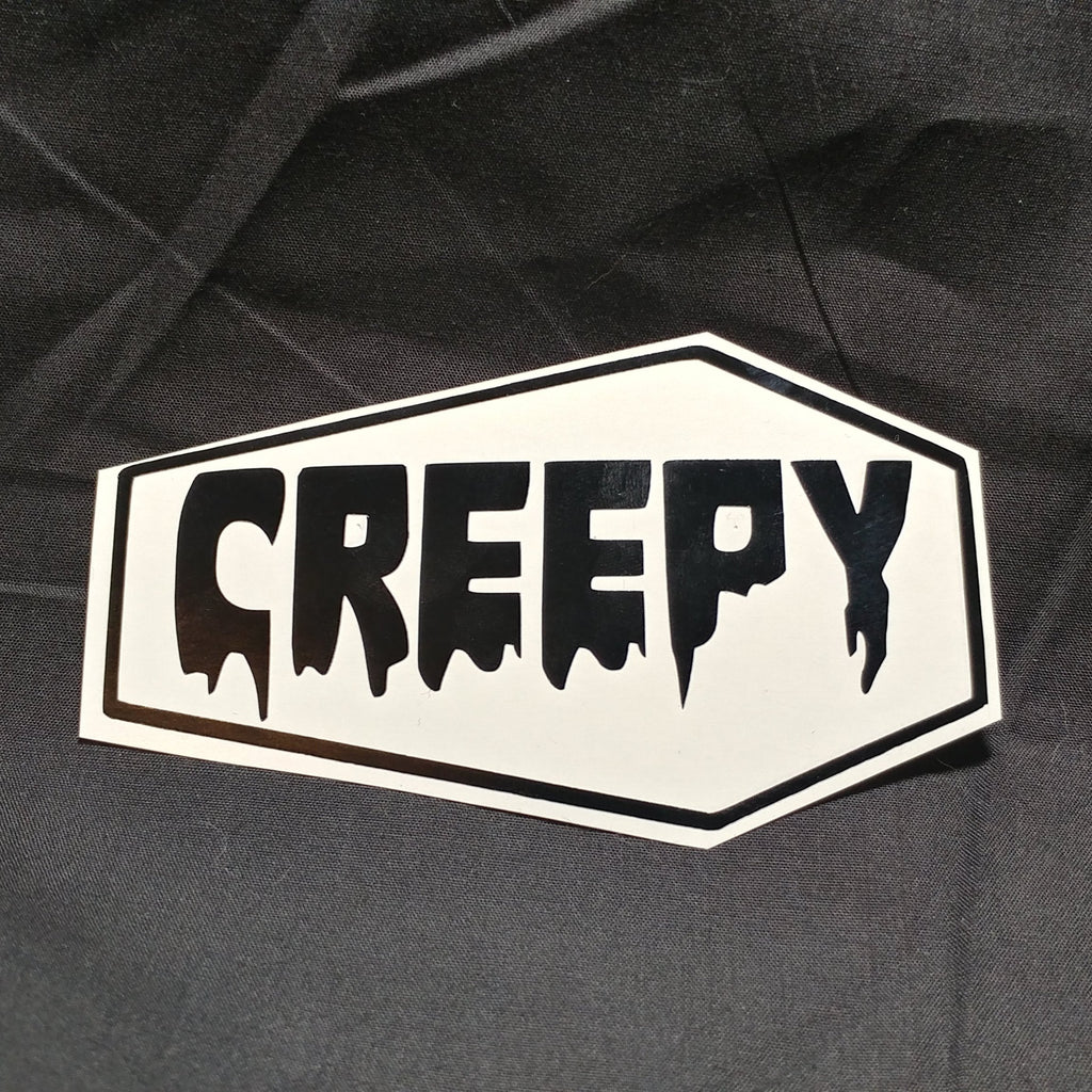 Coffin Creepy Border Vinyl Decal Sticker | Sticker | Nu Goth & Alternative Apparel | Build Your Empire Clothing Co.