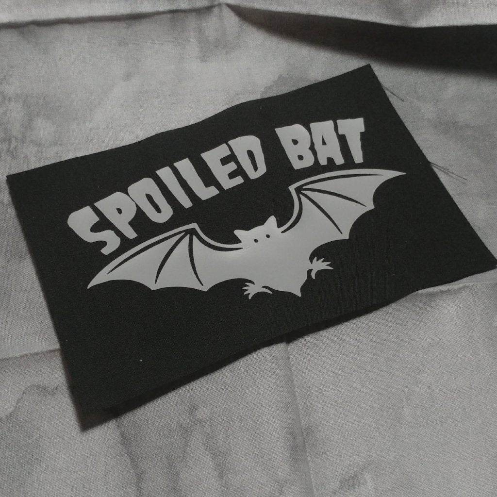 Spoiled Bat Patch | patch | Nu Goth & Alternative Apparel | Build Your Empire Clothing Co.