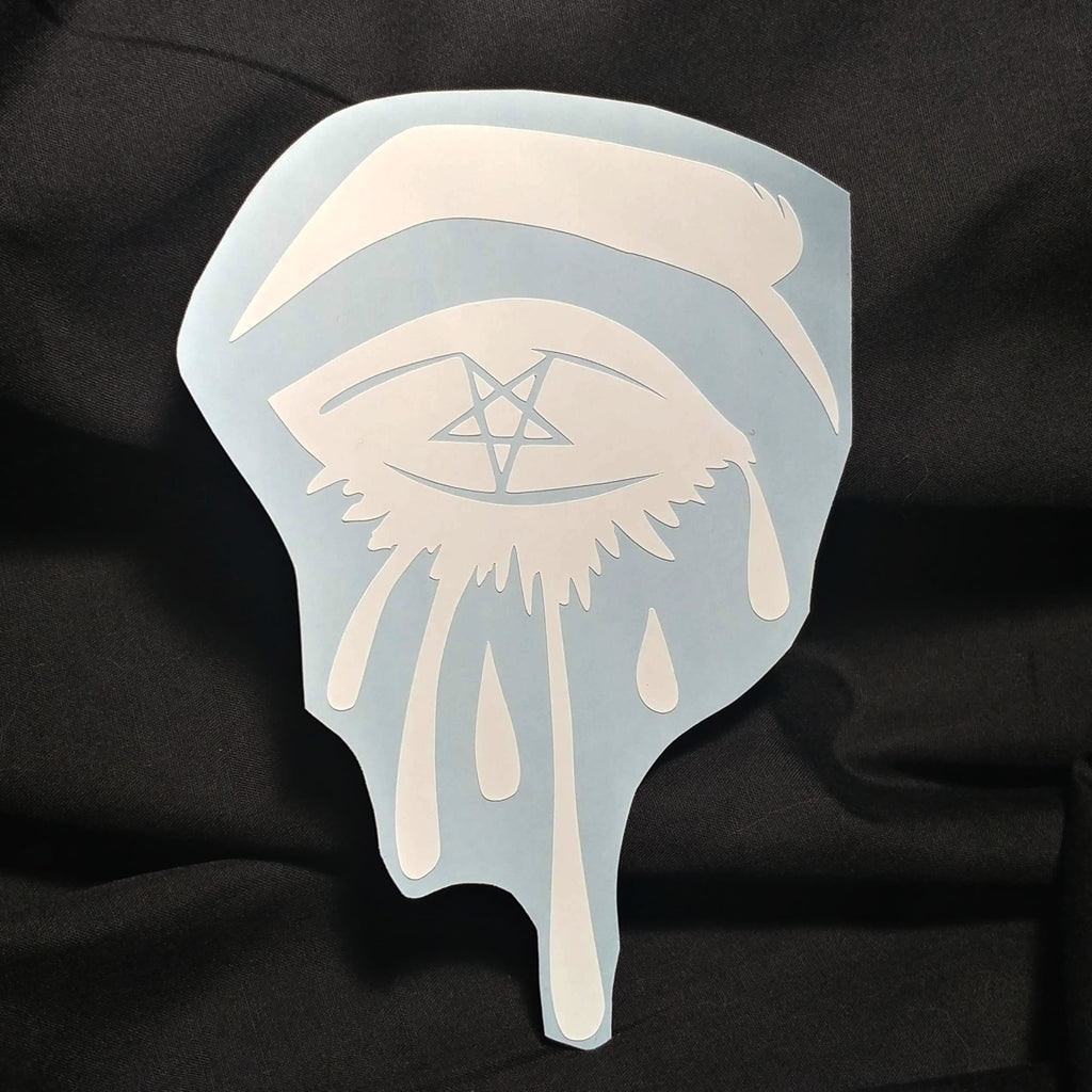 Sinning eyes vinyl decal sticker sticker nu goth alternative apparel build your