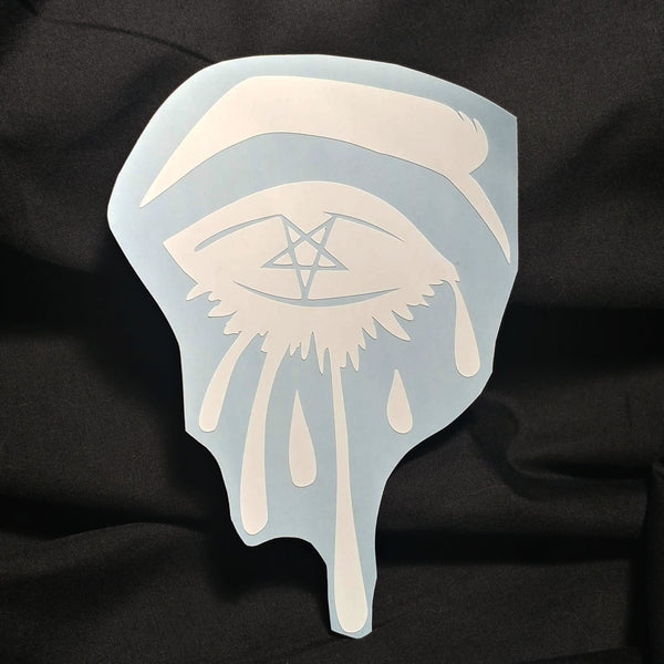 Sinning Eyes Vinyl Decal Sticker | Sticker | Nu Goth & Alternative Apparel | Build Your Empire Clothing Co.