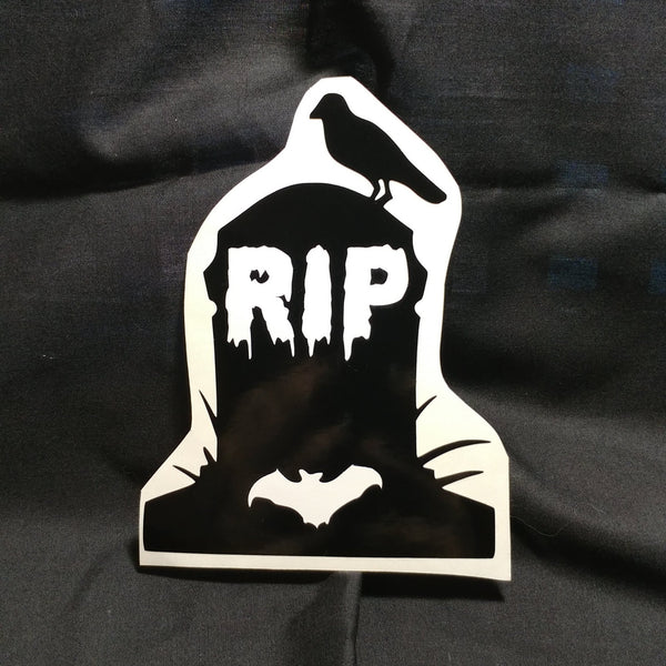 Tombstone Raven Vinyl Decal Sticker