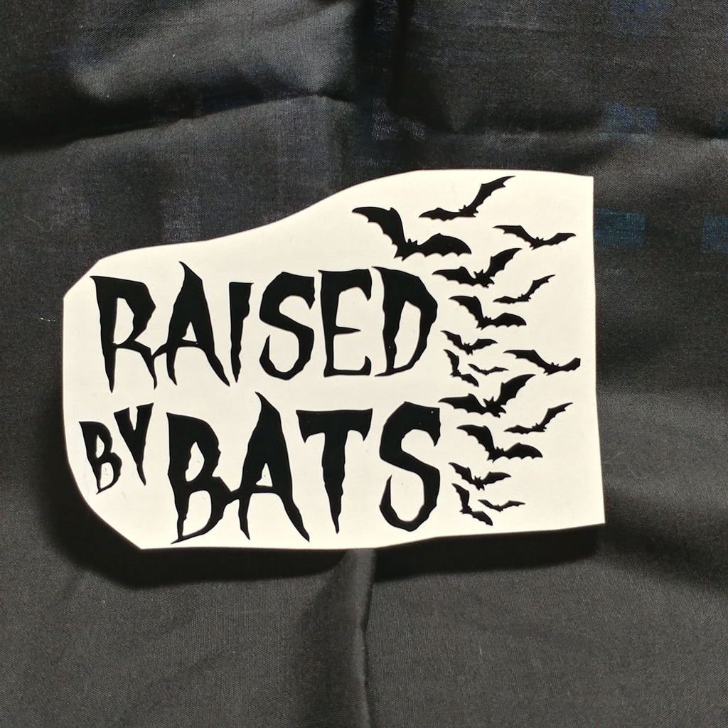Raised by Bats Vinyl Decal Sticker | Sticker | Nu Goth & Alternative Apparel | Build Your Empire Clothing Co.
