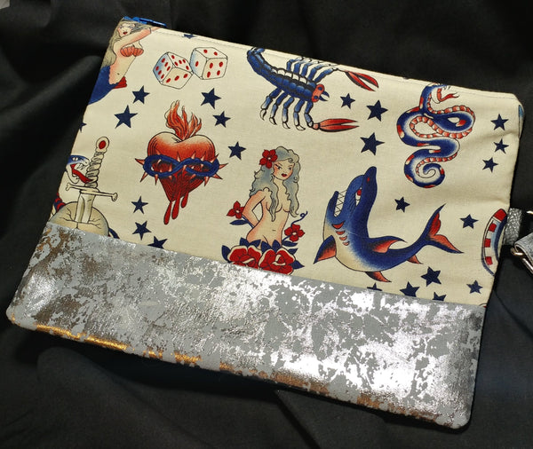 Tattoo Flash Hand Clutch Purse