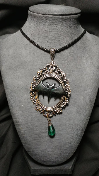 Glitter Bat Frame Necklace | Necklace | Nu Goth & Alternative Apparel | Build Your Empire Clothing Co.