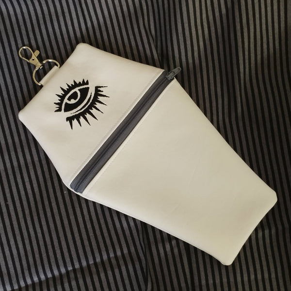 All Seeing Eye Coffin Zipper Clutch Purse | Clutch | Nu Goth & Alternative Apparel | Build Your Empire Clothing Co.