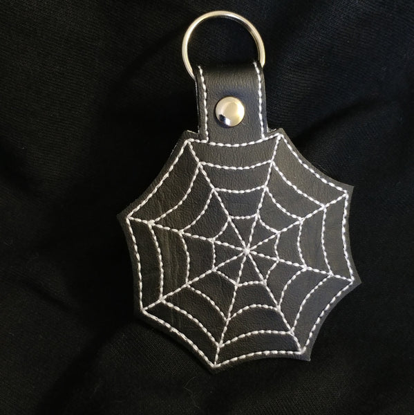 Black Spider Web Keychain