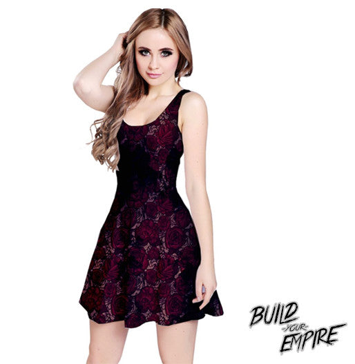 Garden Rose Grunge Dress | Dress | Nu Goth & Alternative Apparel | Build Your Empire Clothing Co.
