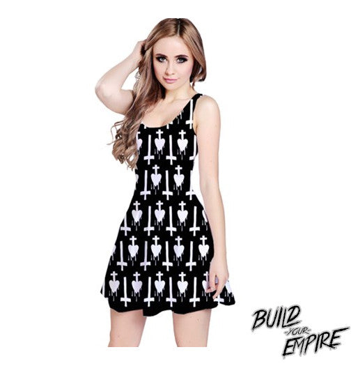 Invert Your Heart Dress | Dress | Nu Goth & Alternative Apparel | Build Your Empire Clothing Co.