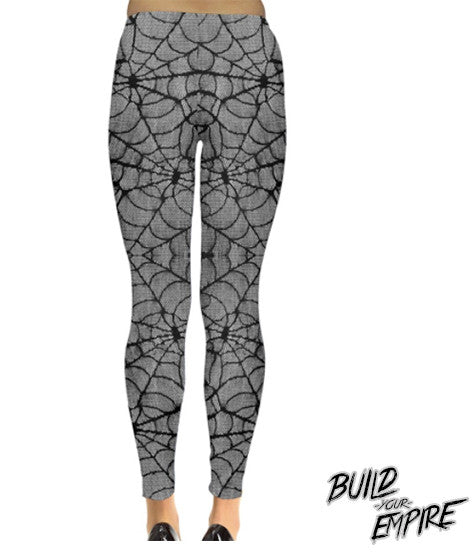 Spider Web Lace Leggings | Leggings | Nu Goth & Alternative Apparel | Build Your Empire Clothing Co.