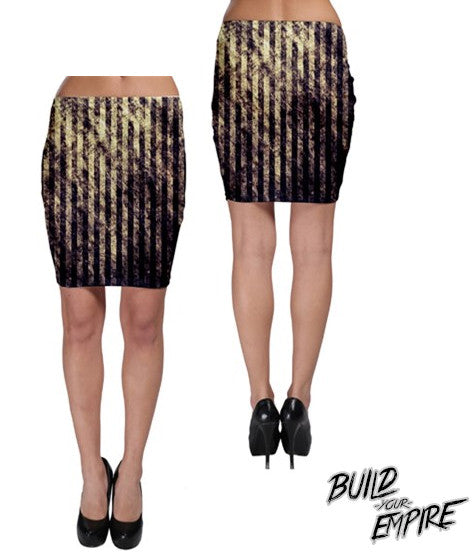 Striped Carnival Skirt | Skirt | Nu Goth & Alternative Apparel | Build Your Empire Clothing Co.