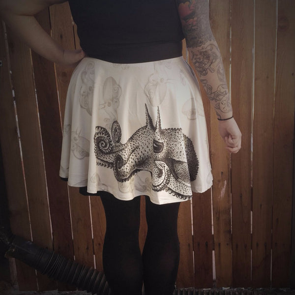 Squid Ink Tattoo Skirt | Skirt | Nu Goth & Alternative Apparel | Build Your Empire Clothing Co.