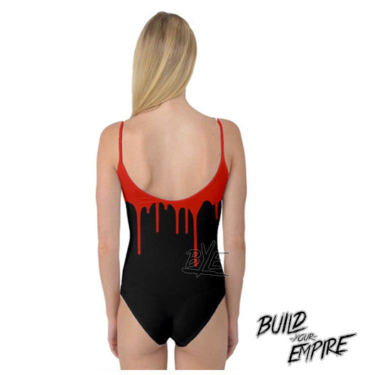 Blood Drip Body Suit | body suit | Nu Goth & Alternative Apparel | Build Your Empire Clothing Co.