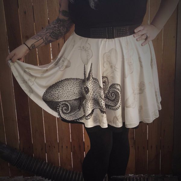 Squid Ink Tattoo Skirt - Build Your Empire Clothing Co | Nu goth & Alternative Apparel - 1