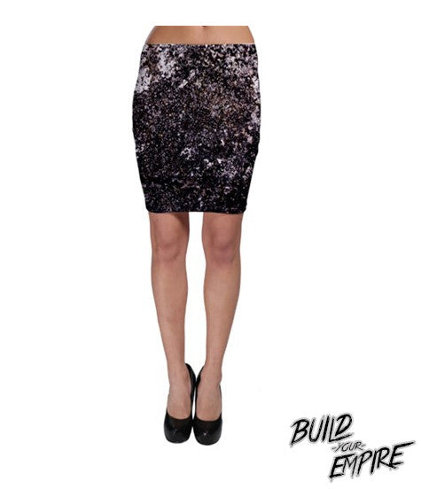 Galaxy Splatter Skirt | Skirt | Nu Goth & Alternative Apparel | Build Your Empire Clothing Co.