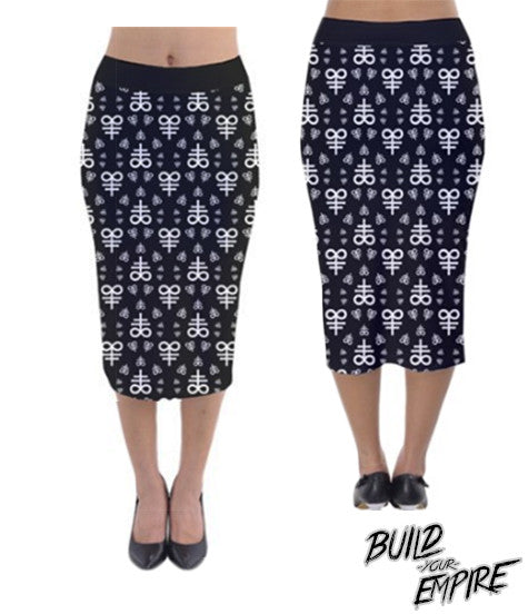 Blasphemy! Pencil Skirt | Skirt | Nu Goth & Alternative Apparel | Build Your Empire Clothing Co.