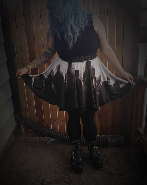 Zombie Horde Skater Skirt - Build Your Empire Clothing Co | Nu goth & Alternative Apparel - 1