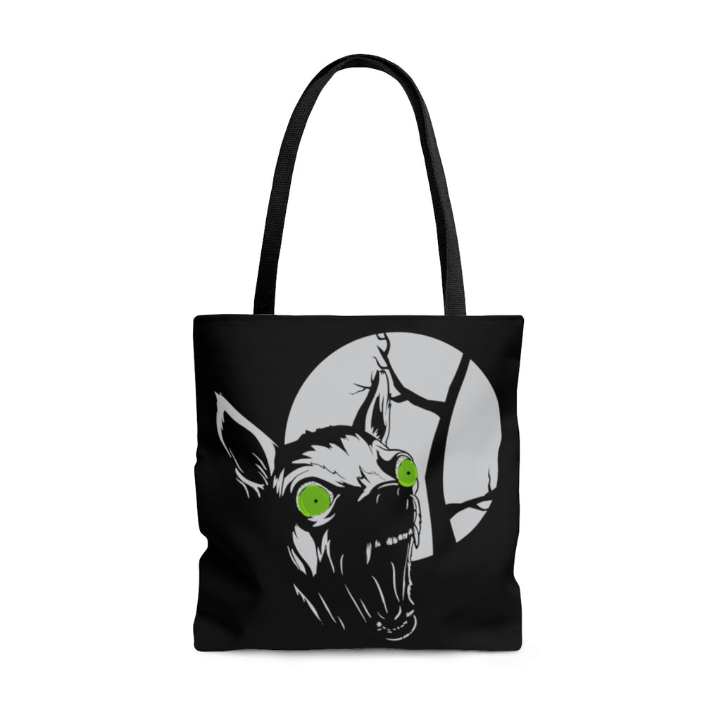 Howl at the Moon Tote Bag | Tote Bag | Nu Goth & Alternative Apparel | Build Your Empire Clothing Co.