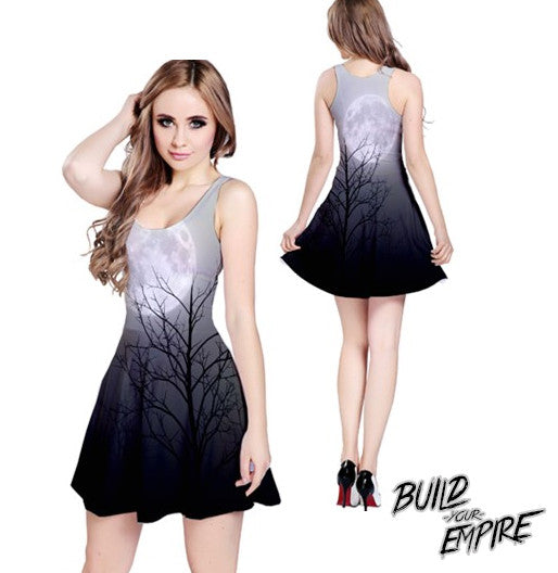 Full Moon Light Dress | Dress | Nu Goth & Alternative Apparel | Build Your Empire Clothing Co.