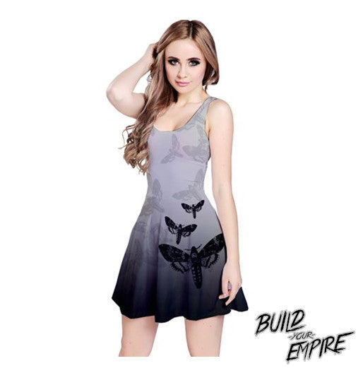Moth to Flames Dress - Build Your Empire Clothing Co | Nu goth & Alternative Apparel - 1