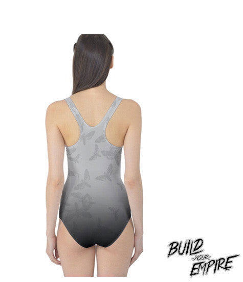 Moth to Flames One Piece Swim Suit | Women's Swim Wear | Nu Goth & Alternative Apparel | Build Your Empire Clothing Co.