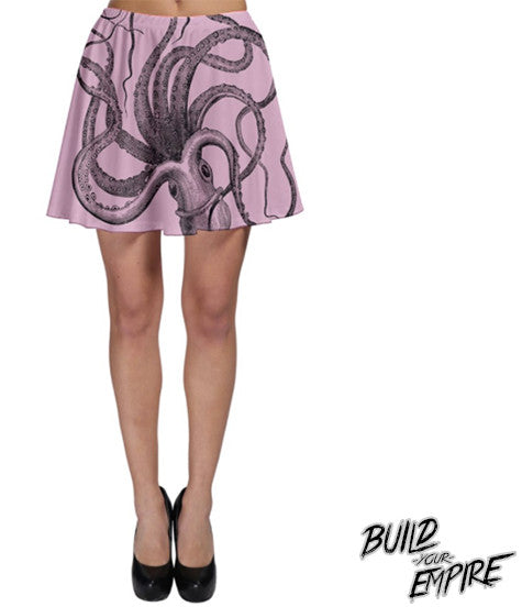 Pastel Octopus Skirt | Skirt | Nu Goth & Alternative Apparel | Build Your Empire Clothing Co.