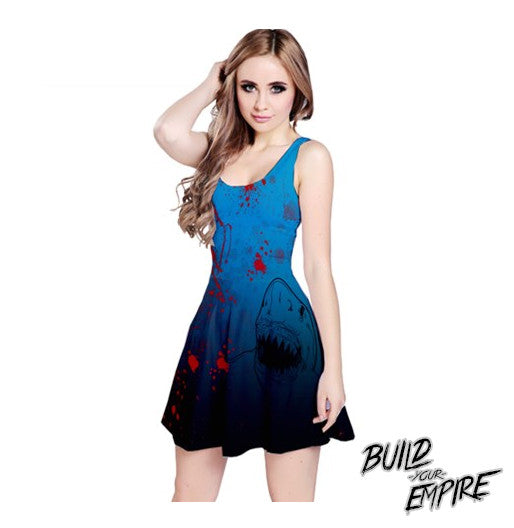 Shark Attack! Dress - Build Your Empire Clothing Co | Nu goth & Alternative Apparel - 1