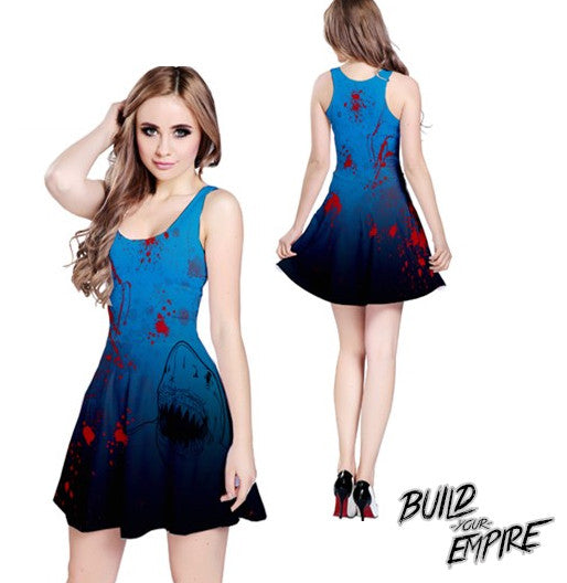 Shark Attack! Dress | Dress | Nu Goth & Alternative Apparel | Build Your Empire Clothing Co.