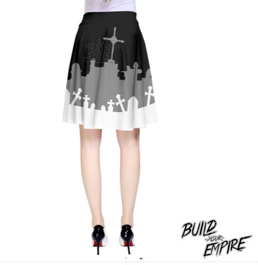 Grave Robber High Waisted Skirt | Skirt | Nu Goth & Alternative Apparel | Build Your Empire Clothing Co.