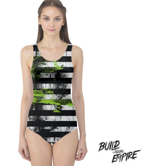 Say My Name 3 Times One Piece Swim Suit | Women's Swim Wear | Nu Goth & Alternative Apparel | Build Your Empire Clothing Co.