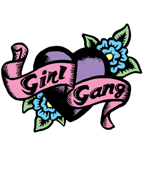 Girl Gang Special Edition 3/4 Sleeve Raglan Shirt | Men's Shirt | Nu Goth & Alternative Apparel | Build Your Empire Clothing Co.