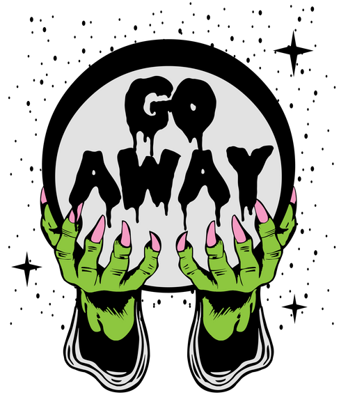Go Away Crystal Ball T Shirt | Men's Shirt | Nu Goth & Alternative Apparel | Build Your Empire Clothing Co.