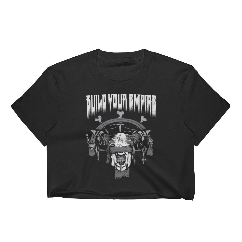 Build Your Empire Bondage Women's Crop Top | Women's Shirts | Nu Goth & Alternative Apparel | Build Your Empire Clothing Co.