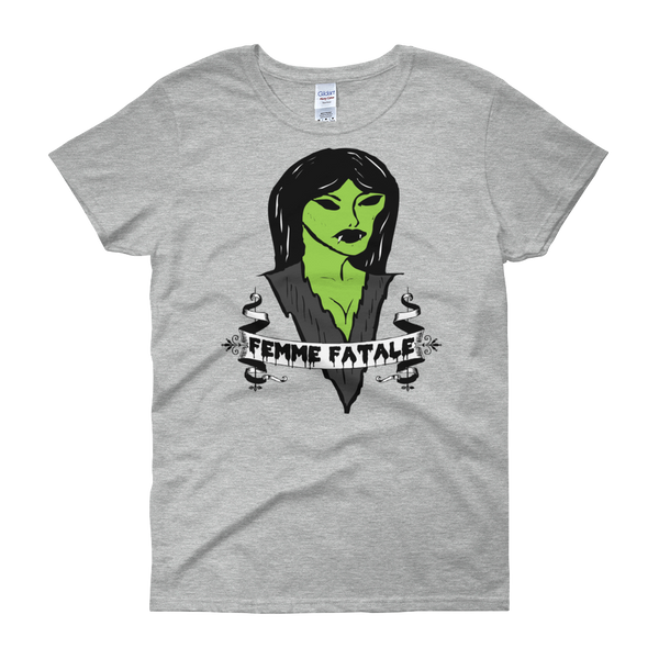 Femme Fatale Women's T Shirt | Women's Shirts | Nu Goth & Alternative Apparel | Build Your Empire Clothing Co.