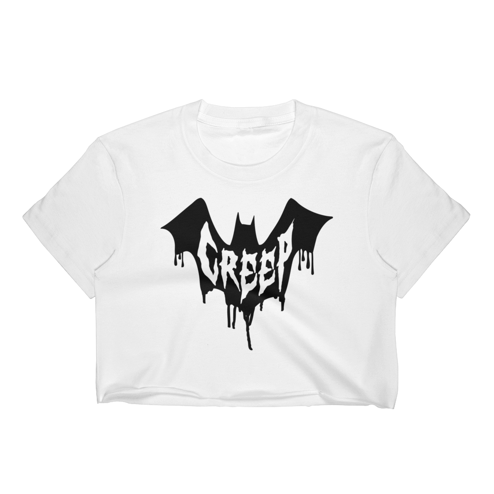 Creep Women's Crop Top | Women's Shirts | Nu Goth & Alternative Apparel | Build Your Empire Clothing Co.