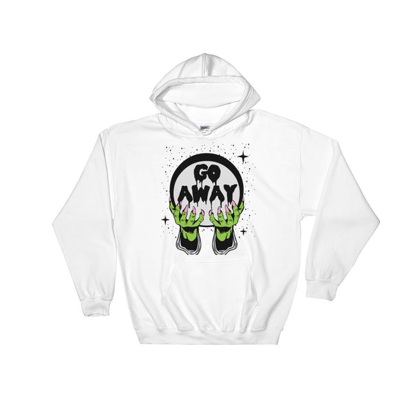 Go Away Unisex Hooded Sweatshirt | Hoodie | Nu Goth & Alternative Apparel | Build Your Empire Clothing Co.