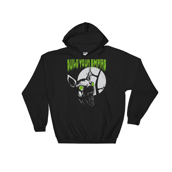 Build Your Empire Howl at the Moon Black Unisex Hooded Sweatshirt | Hoodie | Nu Goth & Alternative Apparel | Build Your Empire Clothing Co.