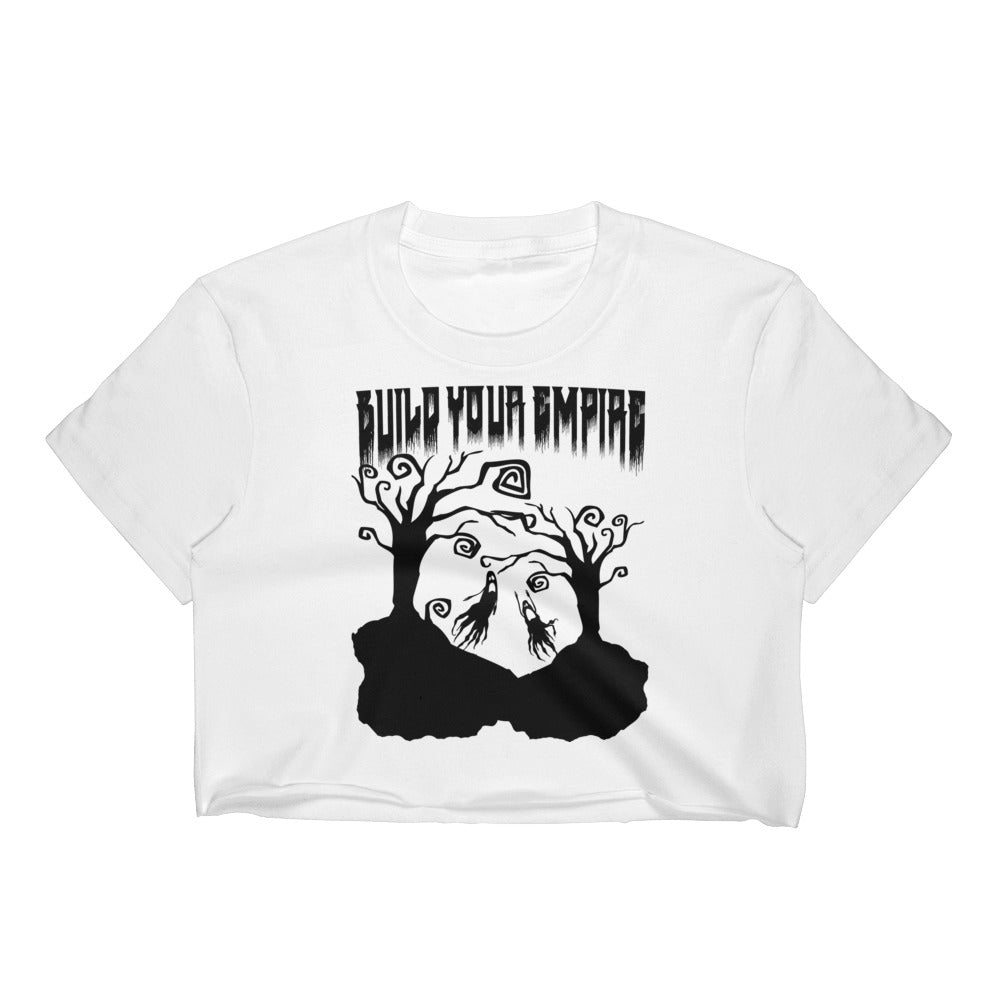 Build Your Empire Everyday is Halloween White Women's Crop Top | Women's Shirts | Nu Goth & Alternative Apparel | Build Your Empire Clothing Co.