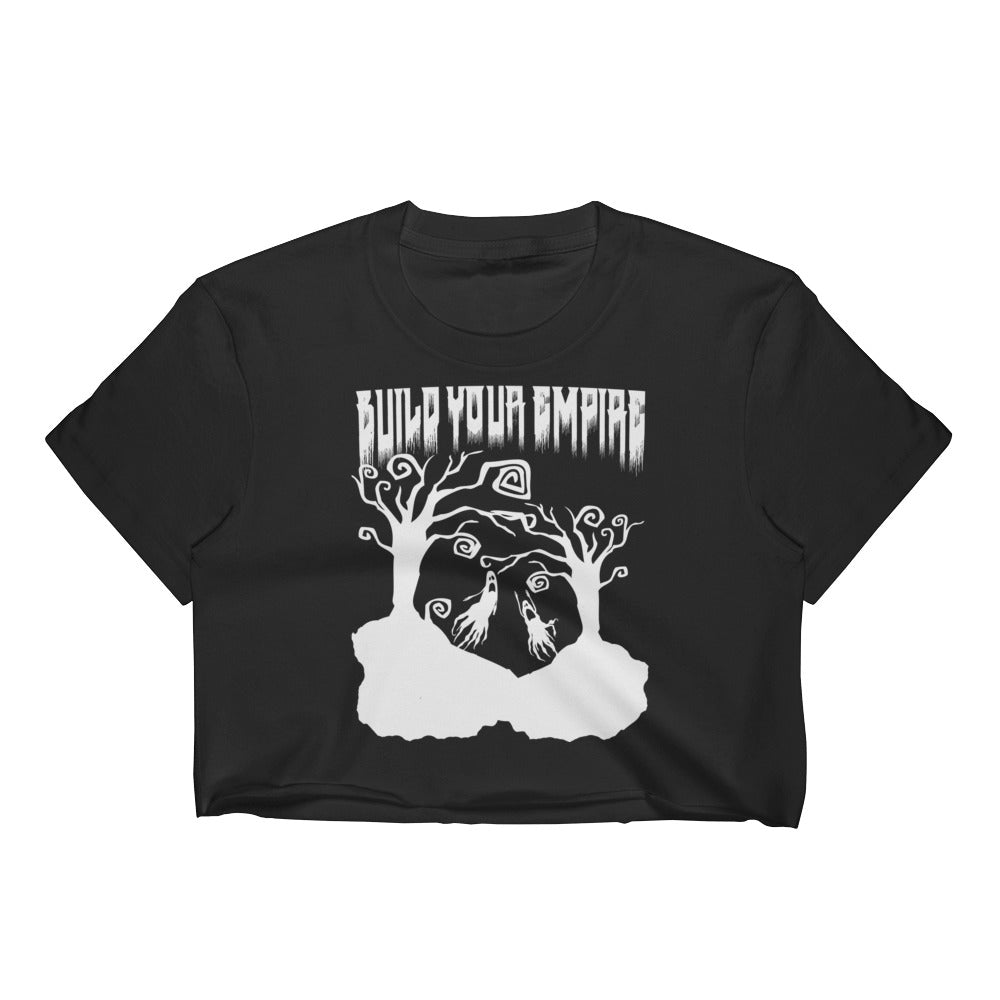 Build Your Empire Everyday is Halloween Black Women's Crop Top | Women's Shirts | Nu Goth & Alternative Apparel | Build Your Empire Clothing Co.