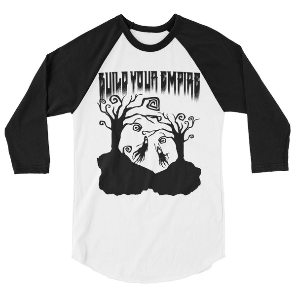 Build Your Empire Everyday is Halloween Unisex 3/4 Sleeve Raglan Shirt | Men's Shirt | Nu Goth & Alternative Apparel | Build Your Empire Clothing Co.
