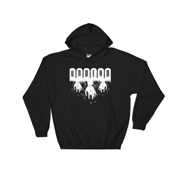 Undead Black Unisex Hooded Sweatshirt | Hoodie | Nu Goth & Alternative Apparel | Build Your Empire Clothing Co.