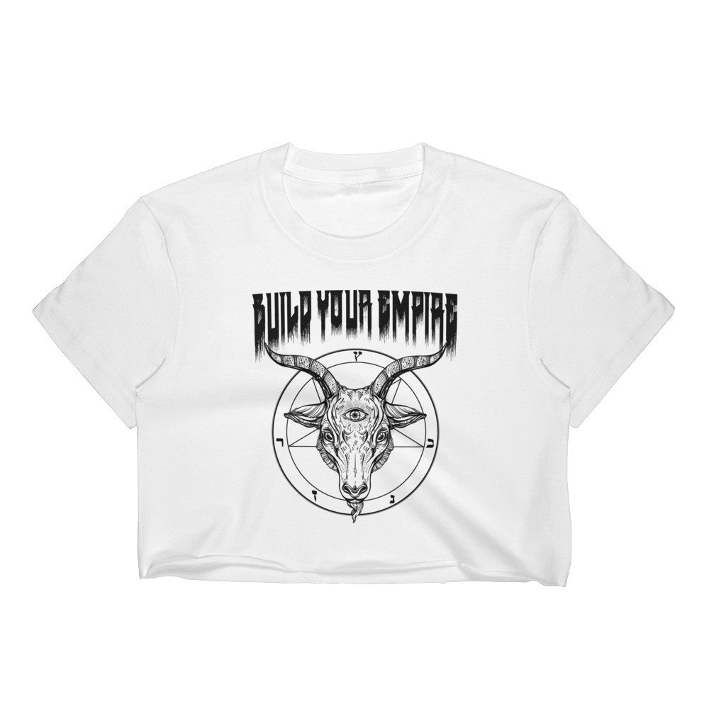 Build Your Empire Sacrifice Women's Crop Top | Women's Shirts | Nu Goth & Alternative Apparel | Build Your Empire Clothing Co.