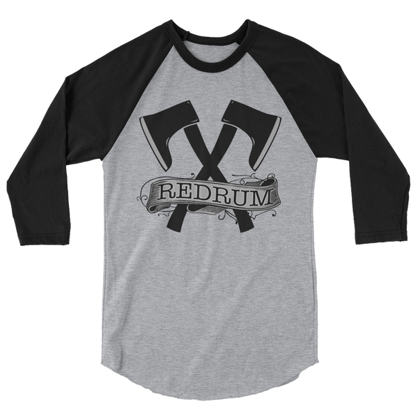 Red Rum 3/4 Sleeve Raglan Shirt | Men's Shirt | Nu Goth & Alternative Apparel | Build Your Empire Clothing Co.