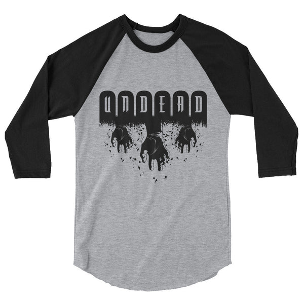 Undead 3/4 Sleeve Raglan Shirt | Men's Shirt | Nu Goth & Alternative Apparel | Build Your Empire Clothing Co.